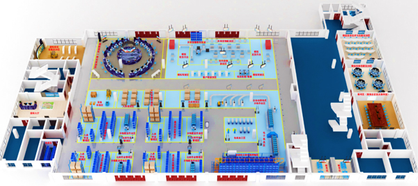 上海创业者公共实训基地物流实训平台效果图(全局)